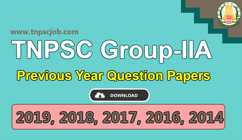 Download TNPSC Group 2A Previous Year Question Paper