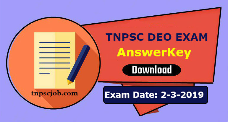 TNPSC DEO Exam Official Answer Key 2019