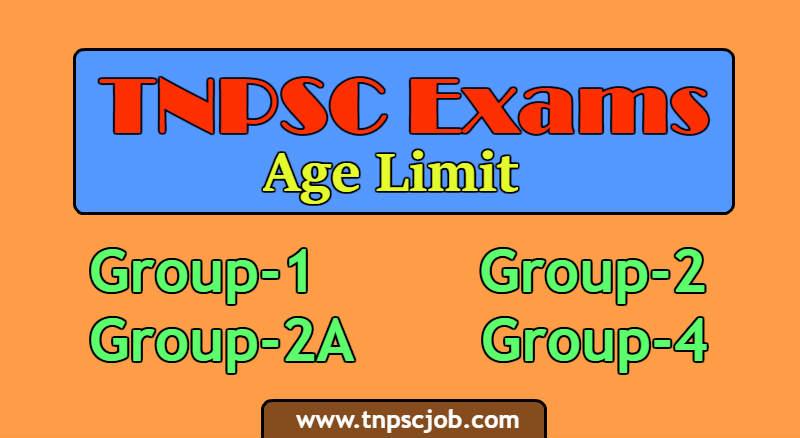 TNPSC Age Limit details 2019