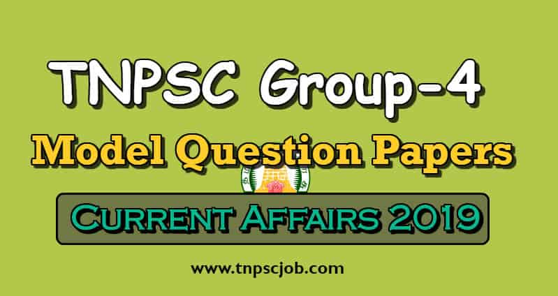 TNPSC Group 4 Current Affairs Model Questions with Answers