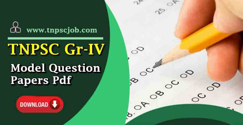 Download] TNPSC Group 4 Model Question Paper with Answer in Pdf