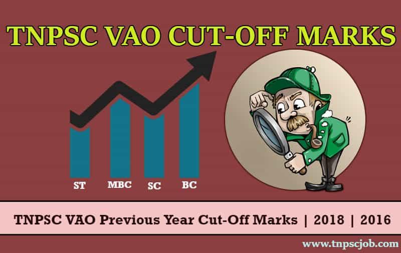 TNPSC VAO Cut Off Marks 2019