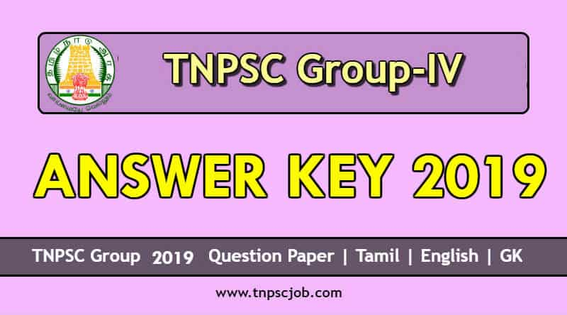 TNPSC Group 4 Answer Key 2019