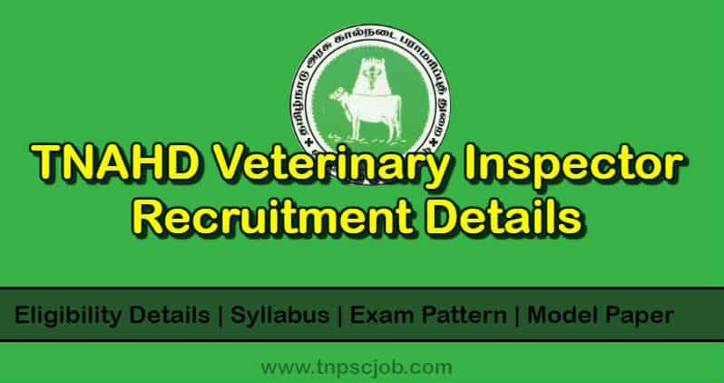 TN Veterinary Livestock Inspector Grade 2 Notification