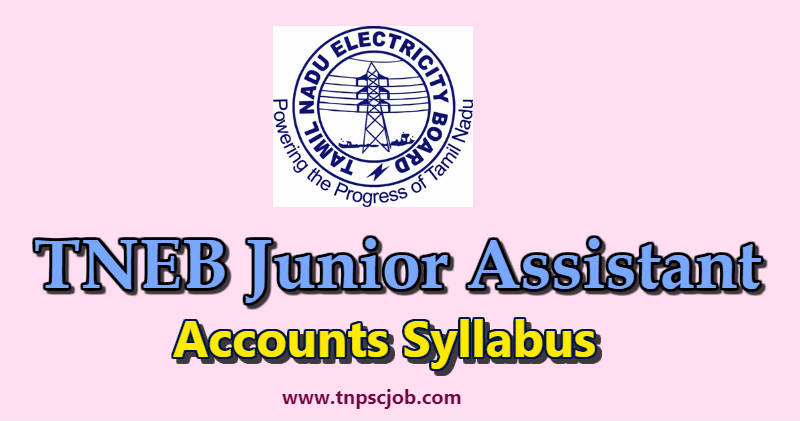 TANGEDCO TNEB Junior Assistant Accounts Syllabus in Tamil