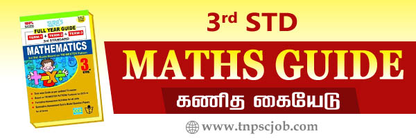 3rd Standard Maths Guide in Tamil and English