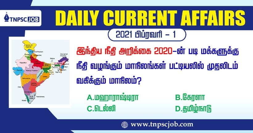 TNPSC Current Affairs 1st February 2021