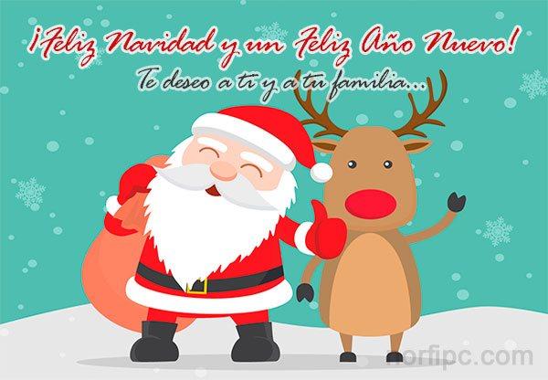 feliz navidad y un