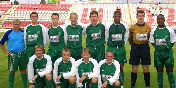 Polonia Warsaw v TNS in the UEFA Cup.
