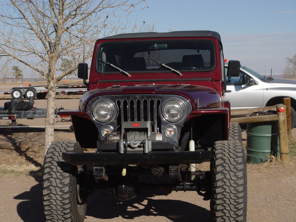 medium resolution of tnt jeep cj tube fenders 3 flare front view