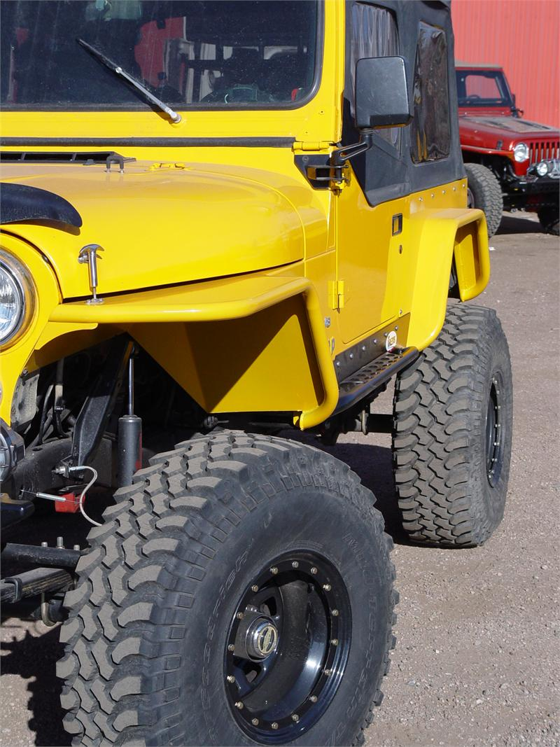 hight resolution of tnt jeep cj tube fenders 3 flare angled view