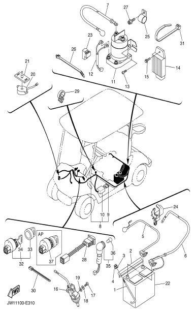 Yamaha Ydra Ledningsdiagram
