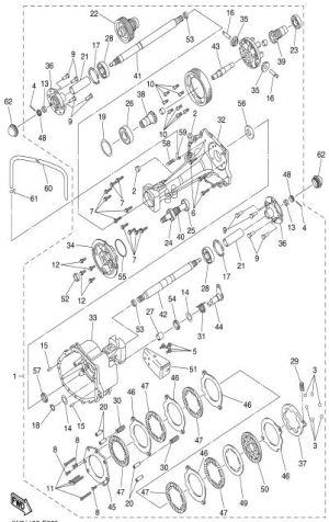 20072016 YDRE Drive DC 48V Electric  Transaxle Brake
