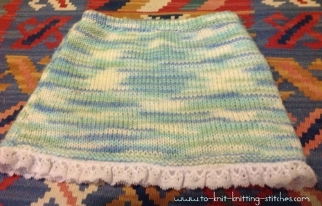 Cute Short Skirt With Lacy Edge  Super Easy Knitting