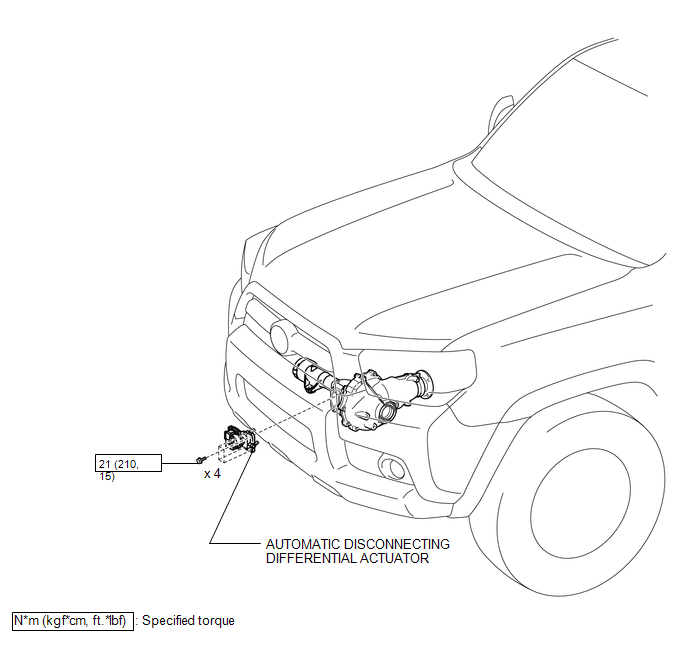 Toyota 4Runner: Automatic Disconnecting Differential