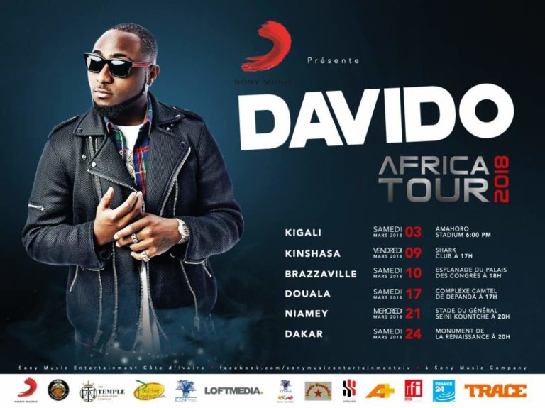Davido Associate With Temple Management For 30BG Francophone Africa Tour