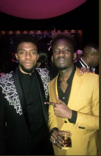 Mr. Eazi Meets Black Panther Cast, Drake, P. Diddy At Oscar Award's After-Party