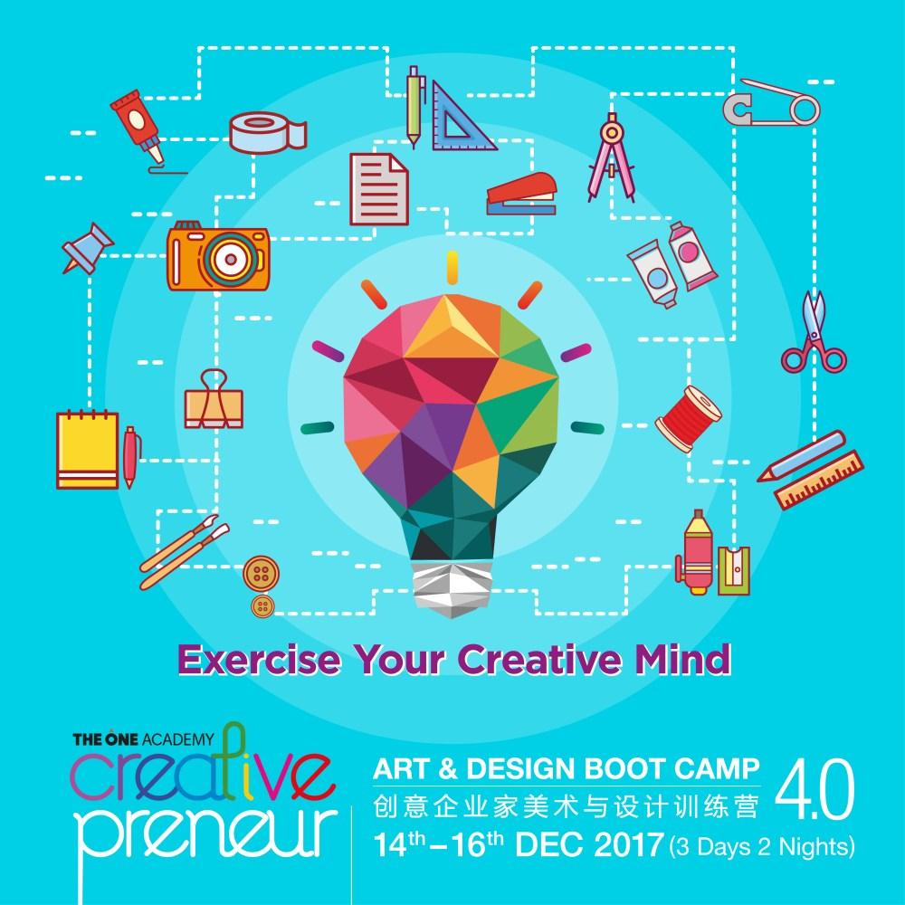 medium resolution of creativepreneur art design boot camp 14th 16th dec 2017 the one academy