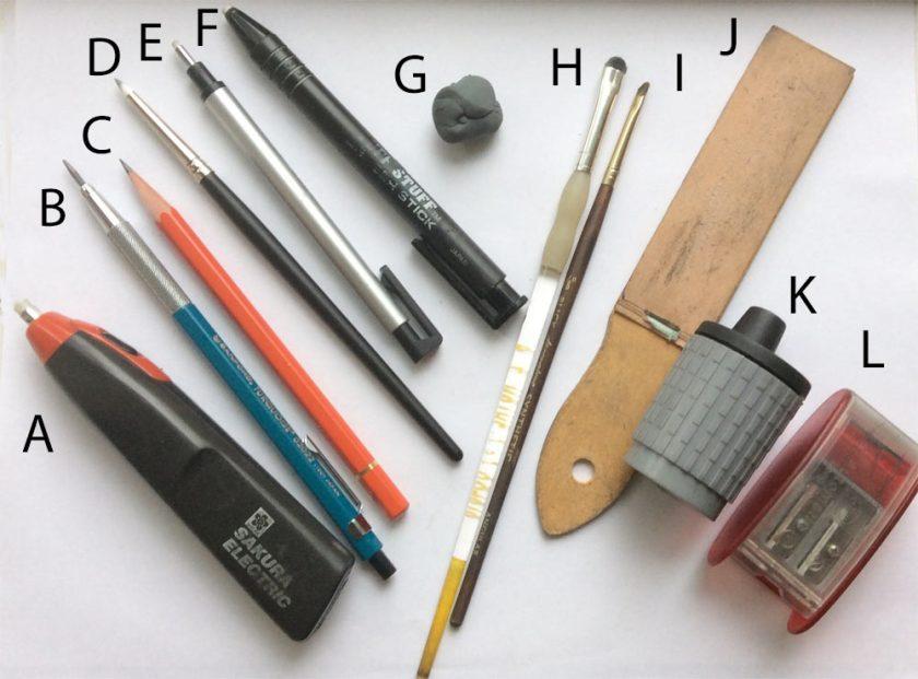 My Drawing Tools Carol S Drawing Blog