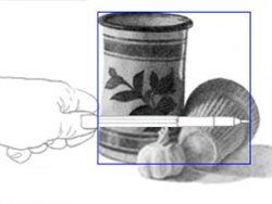 Measuring to find sides of sizing box in scene. C. Rosinski