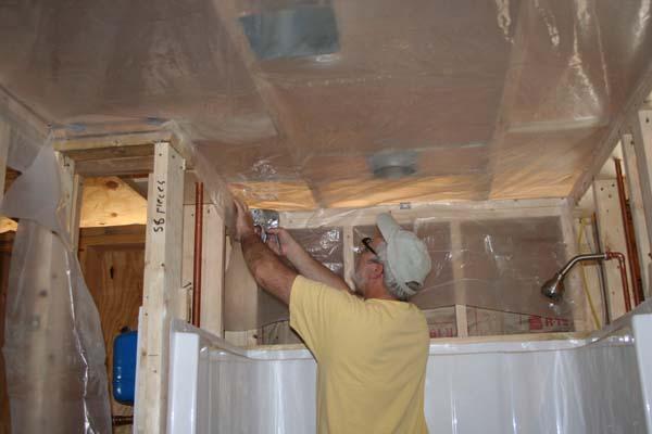 Ceiling Vapour Barrier Install