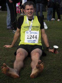 Barefoot Marathon Runner