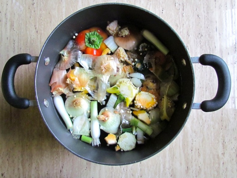 Vegetables in Thick Bottomed Stockpot