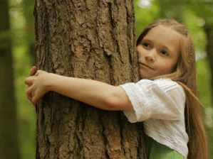 Girl Hugging Tree