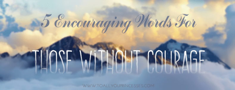 5 Encouraging Words For Those Without Courage - To All You Princesses