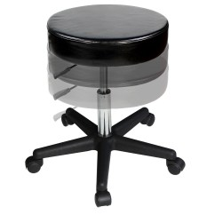 Swivel Chair Em Portugues Cherner Table And Chairs Beauty Rolling Hydraulic Massage Stool Spa