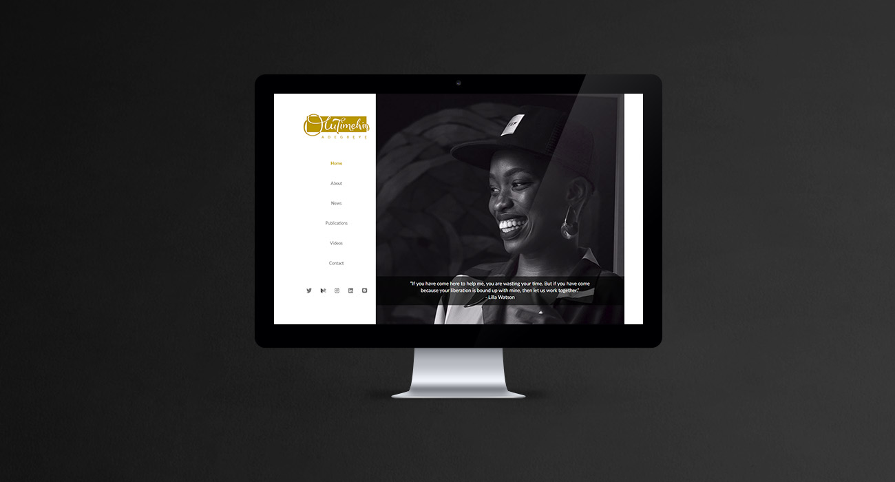 Olutimehin Adegbeye Website