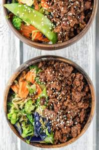 Healthy Korean Ground Beef with Vegetables
