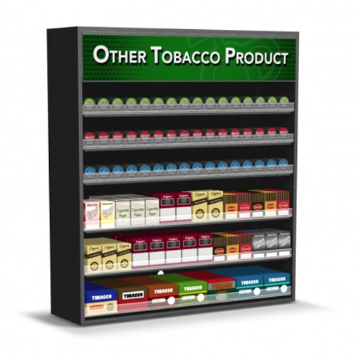 wood cigarette displays and tobacco