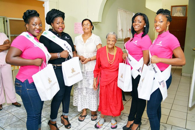 Heritage Personalities along with their sponsor First Citizens, brought a taste of heritage to the St. Vincent De Paul Home for the Aged.