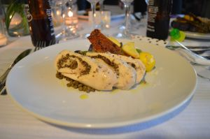 Poulet Roulade aka Chicken stuffed with mushrooms.