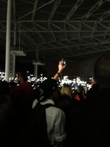 Forget about waving lighters in the air. In this day and age, people wave their cell phones.