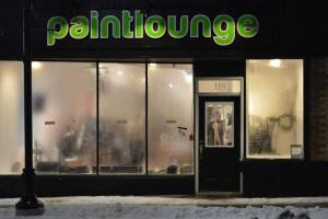 Paint Lounge store front view of the Markham location.