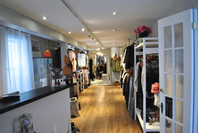 A look into the beautiful store from the inside entrance.