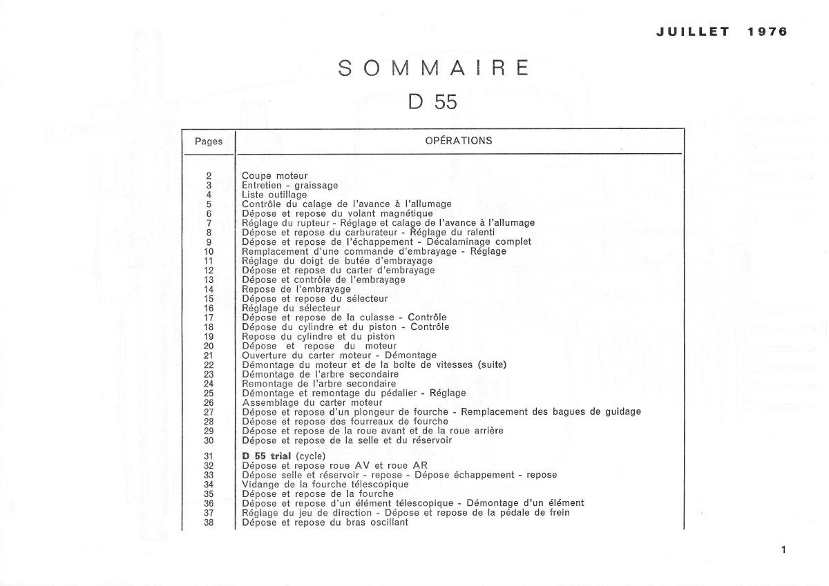 Manuel général des réparations D55-D55 Trial