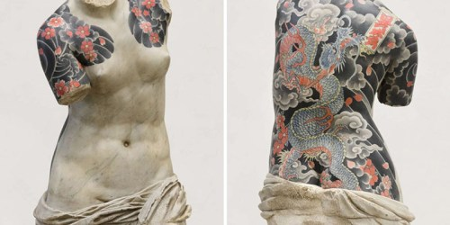 Fabio Viale Draws Tattoos On Classical Sculptures Making Them Totally Awesome