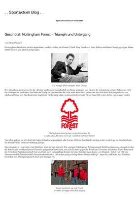 Sportaktuell - Nottingham Forest
