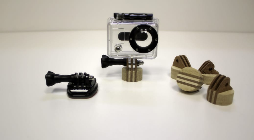GoPro Kamera-Befestigung aus Holz