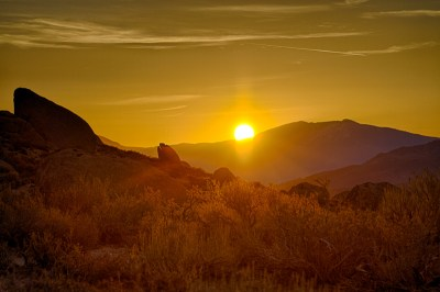Sunrise over Buttermilks