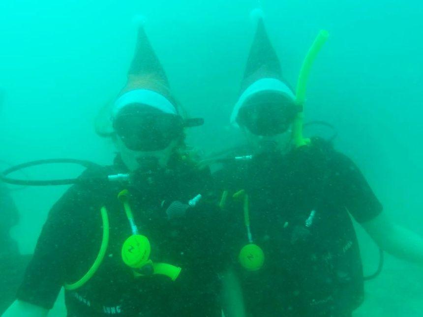 Weihnachten unter Wasser
