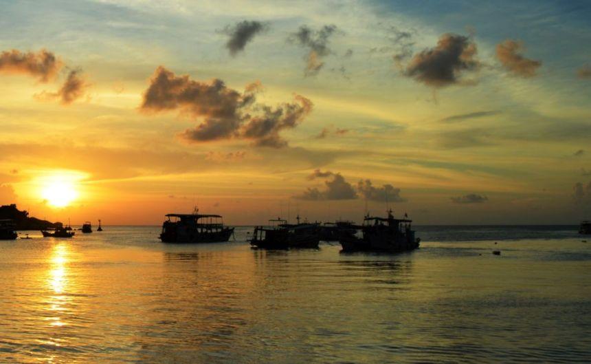 Sonnenuntergang auf Koh Tao