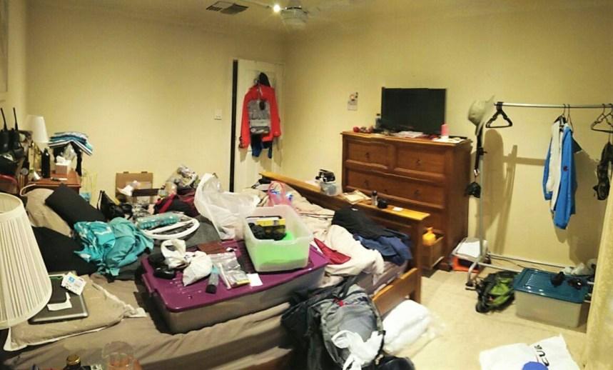 Chaos beim Sachen packen