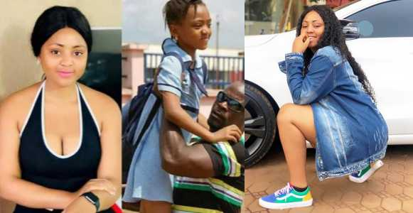 Teen actress, Regina Daniels shares her childhood photo to prove that she's just '16-years old'