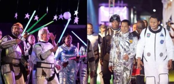 Photos From Pastor Chris Oyakhilome's 55th Astronaut-Themed Birthday Party