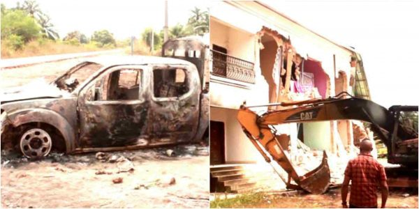 Properties destroyed as Oguta youths clash with Police in Imo lailasnews 6