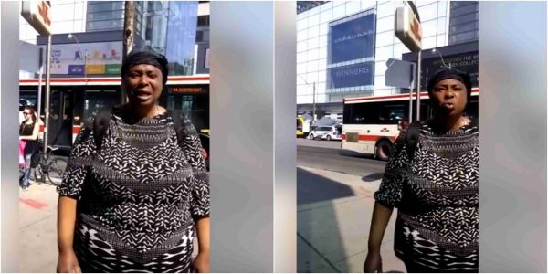Nigerian woman spotted begging in Canada lailasnews 3